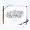 University of Notre Dame Hand-drawn Sketch Note Cards, Notre Dame Stadium