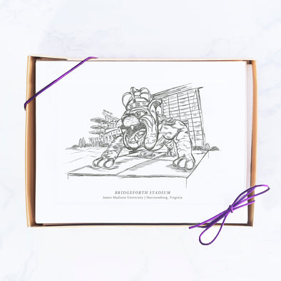 James Madison University Hand-drawn Sketch Note Card Set, Duke Dog