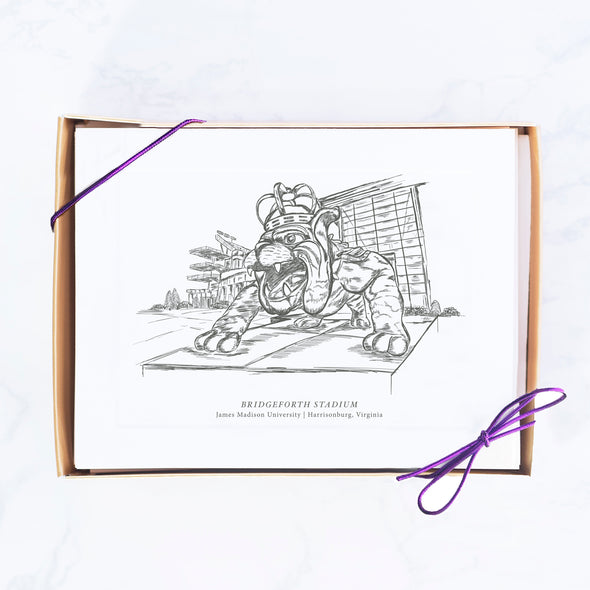 JMU Hand-drawn Sketch Note Card Set, Duke Dog