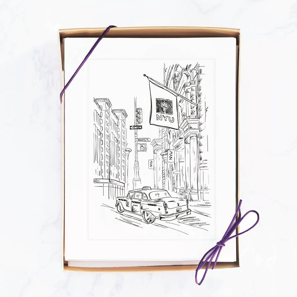 NYU Note Card, City Street