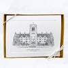 "Saint Mary's College Black and White Note Card Set - ""Le Mans Hall"""