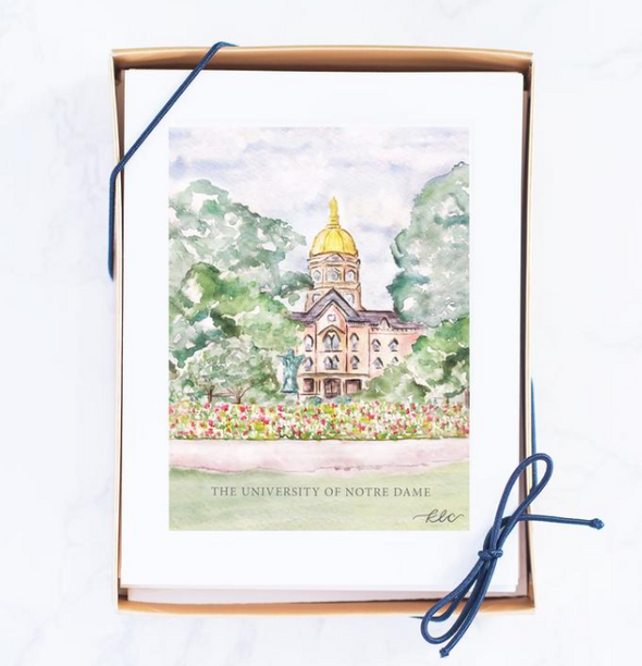Notre Dame Dome Watercolor Note Cards (Wholesale)