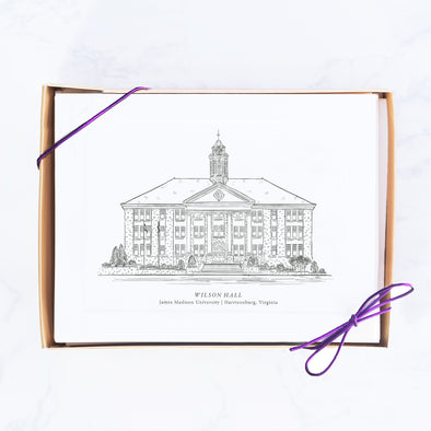JMU Hand-drawn Sketch Note Card Set, Wilson Hall