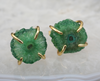Brazilian Agate Colouful Studs