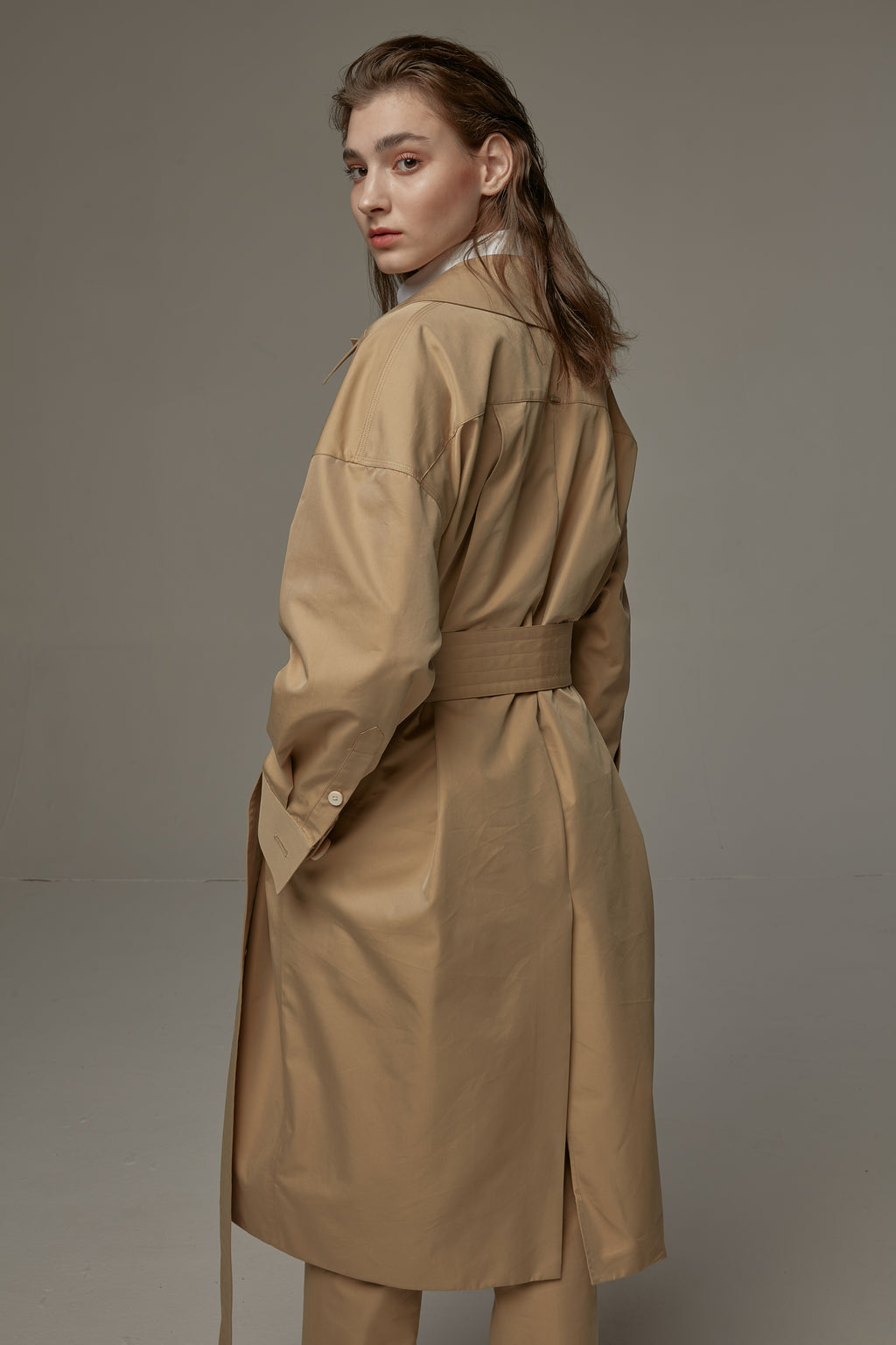 JASON LIU light khaki trench coat