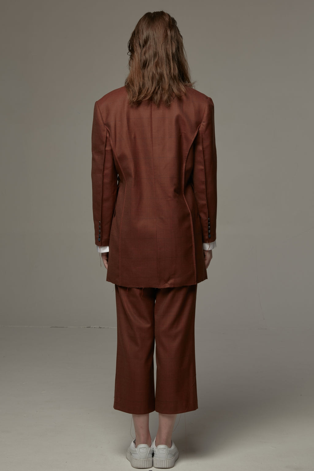 Ocher-Colored Suit Trousers