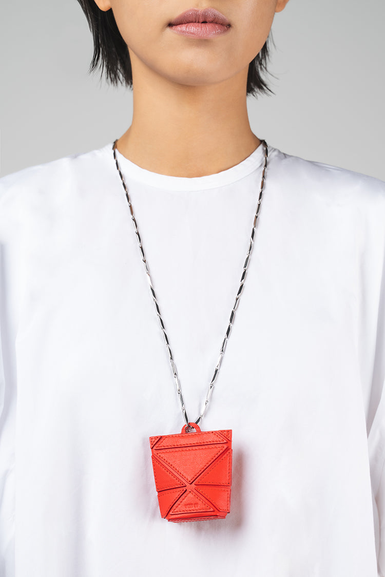 Facet Micro Foldable Charm - Red