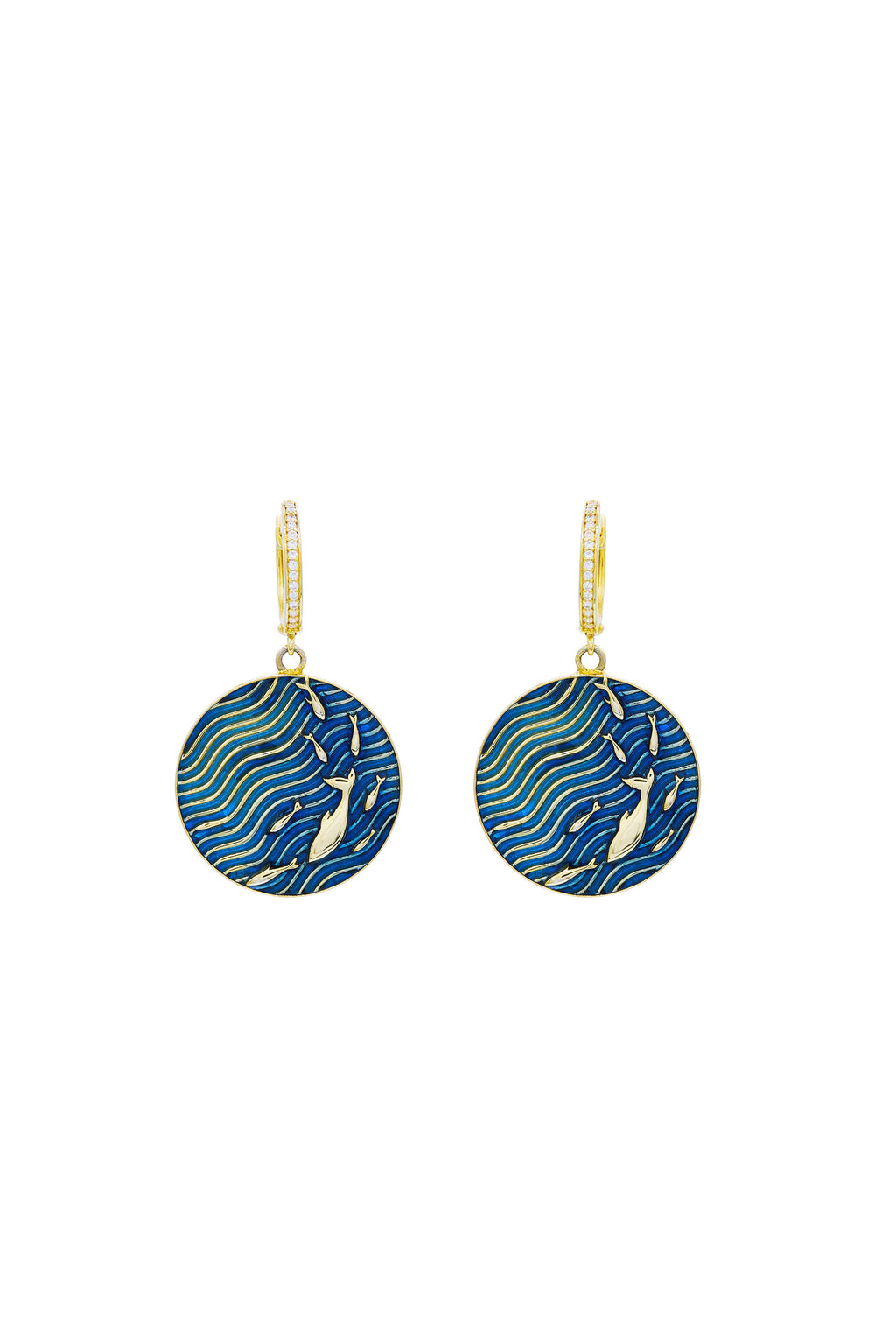 Aquarium Fish School Earrings
