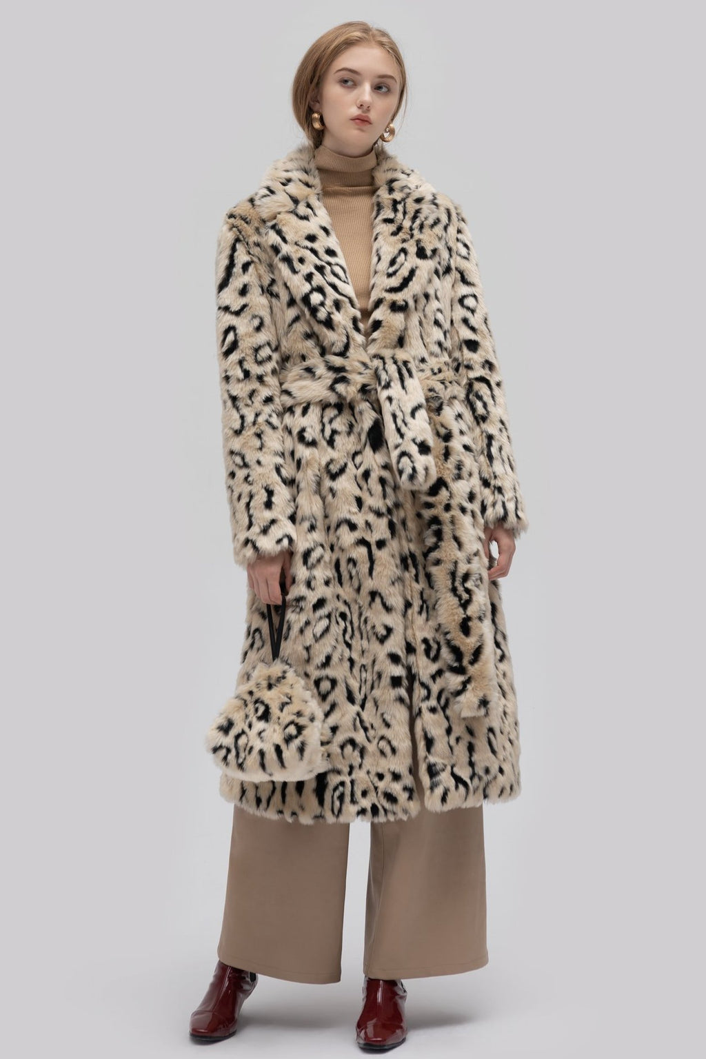 YUEL XIANG leopard long coat