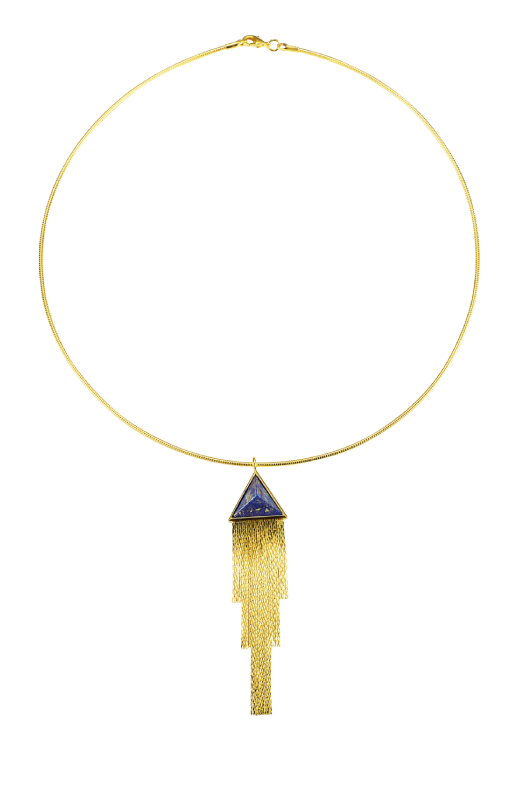 Triangular Fringe Necklace