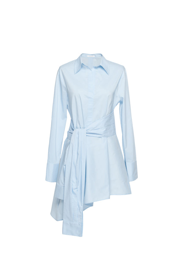 Tied-Sleeve Shirt Dress