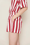 Koey Striped Jumpsuit