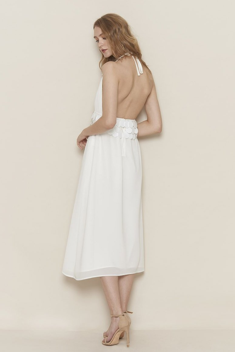 KIKI CHAU garbo white dress