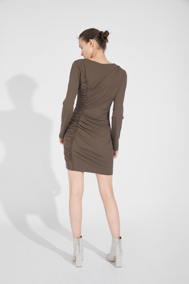 Pleated Slim Dress