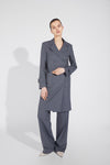 Blazer-Collar Dress - Gray