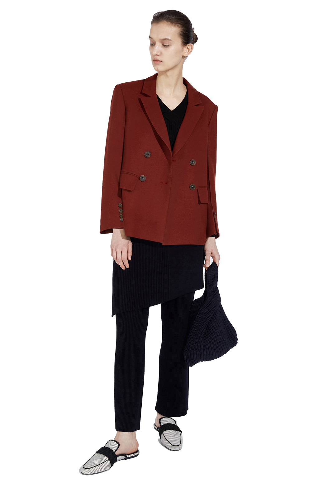 Three-Dimensional Sleeve Blazer