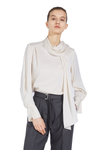 Wide Floating Collar Shirt - White