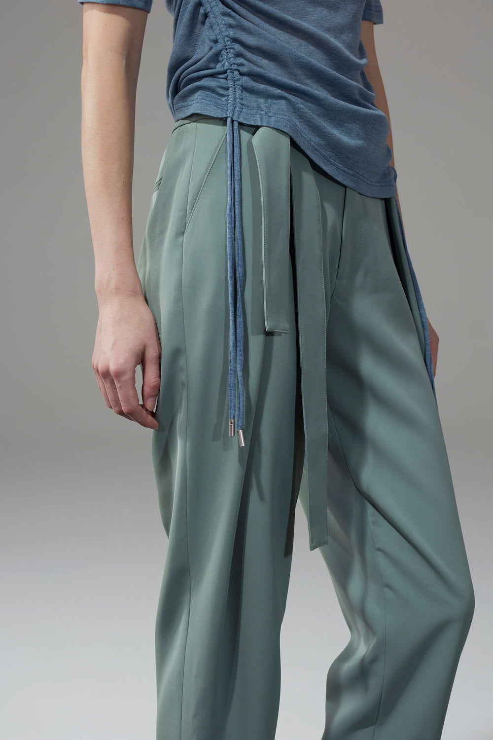 Belted Pants - Green