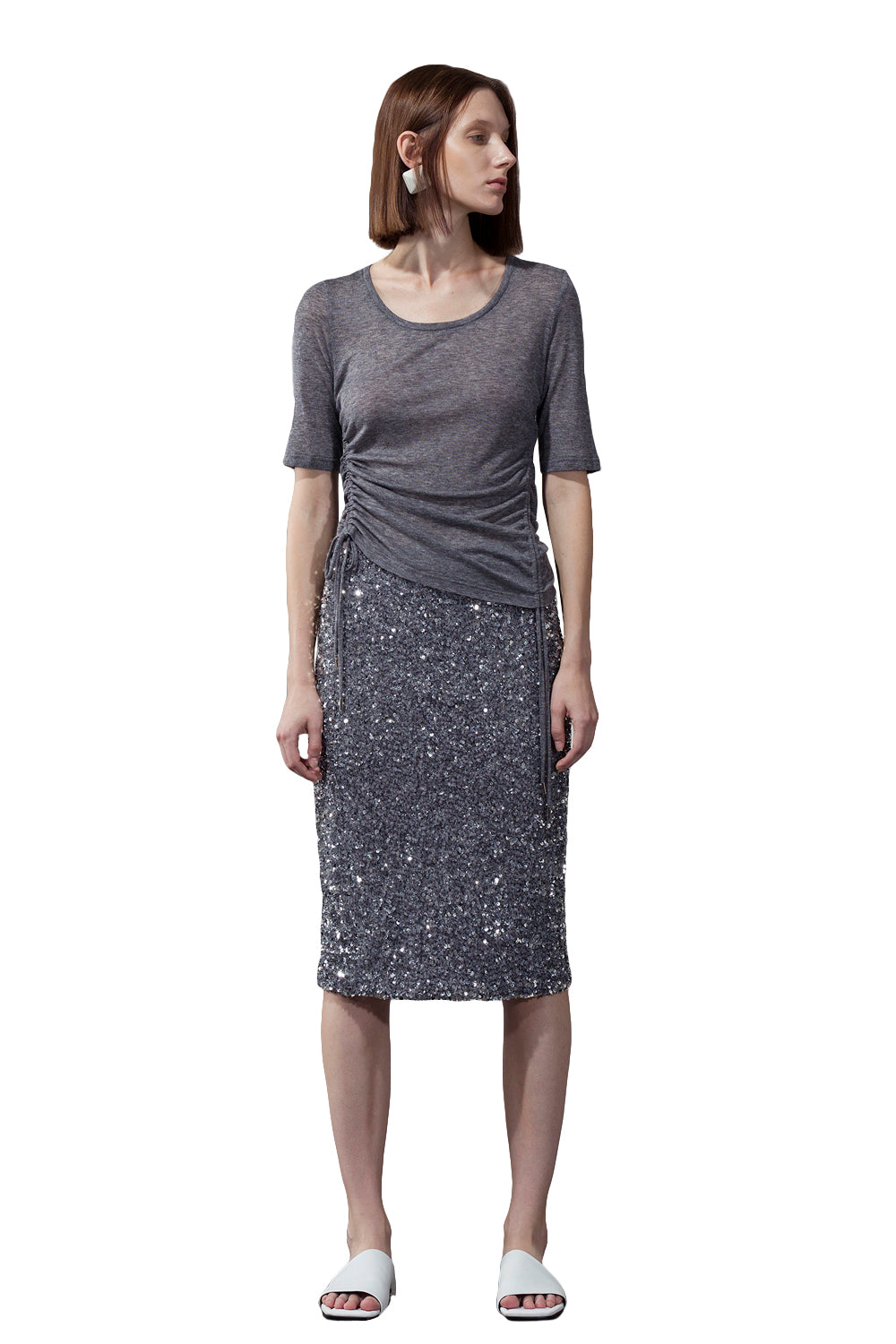 Sequined Skirt - Gray