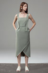 Ribbon Strap Dress - Green