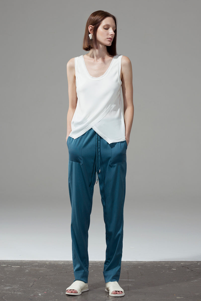 Drawstring Trousers - Blue