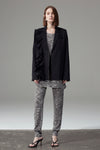 Asymmetric Straight Blazer - Black
