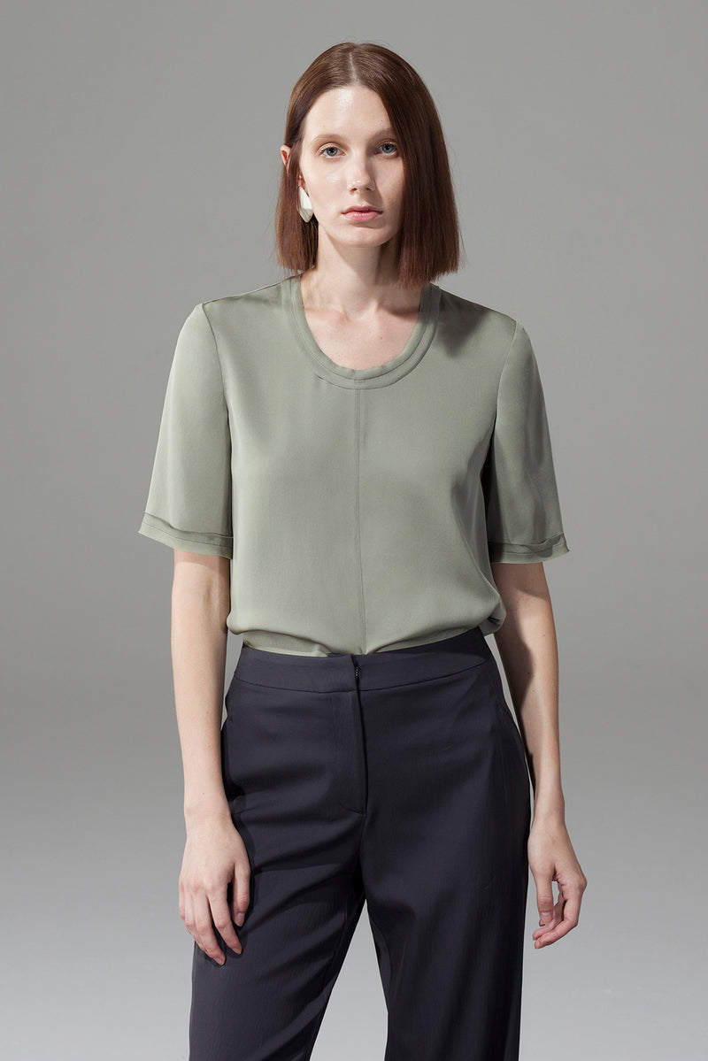 Front Seam Blank Top - Green
