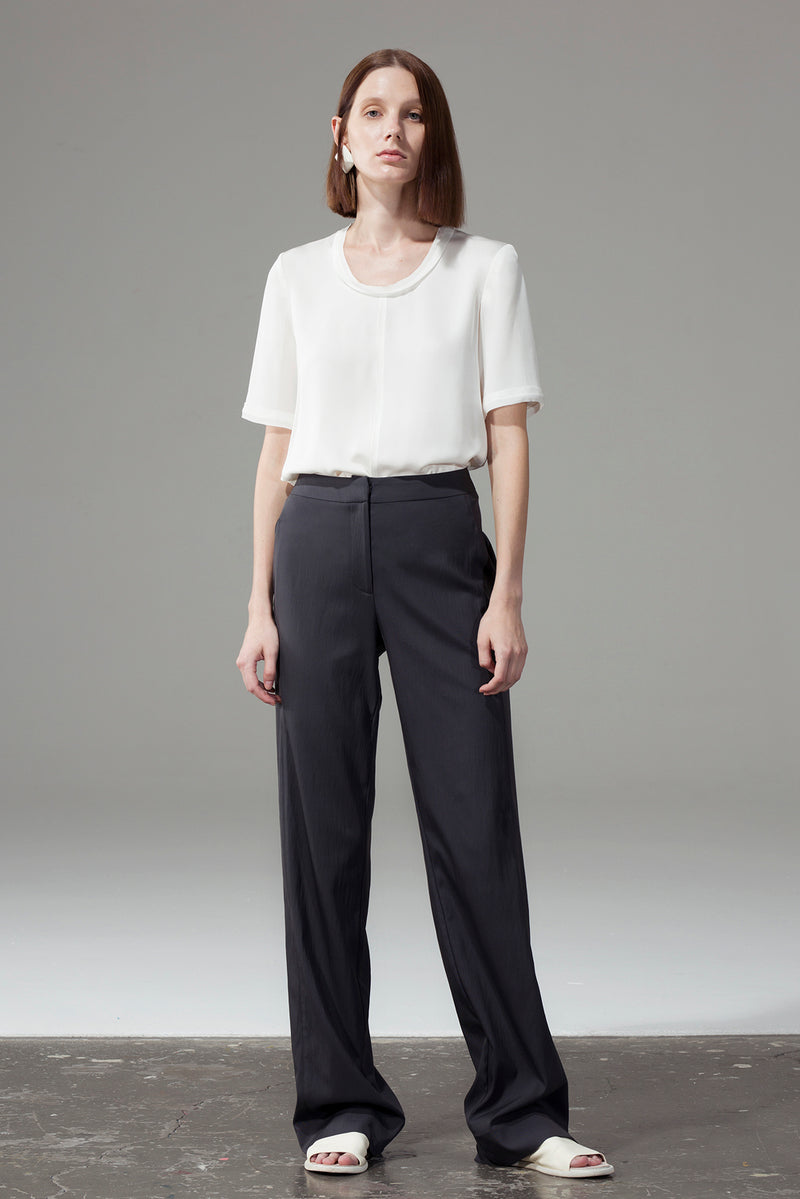 Front Seam Blank Top - White