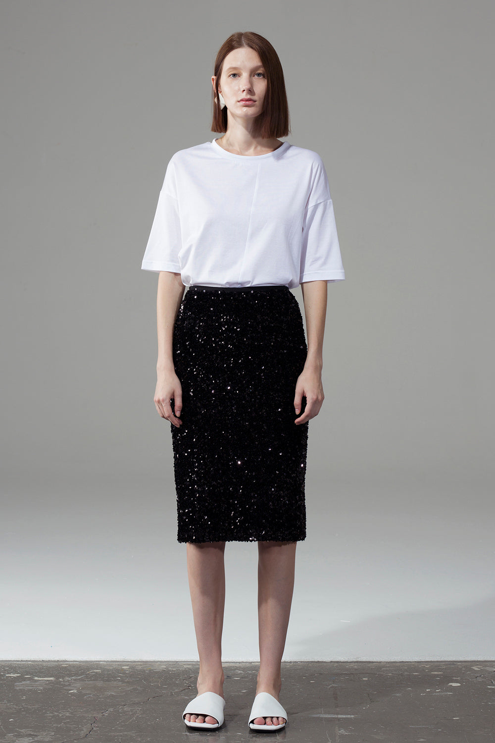 Sequined Skirt - Black