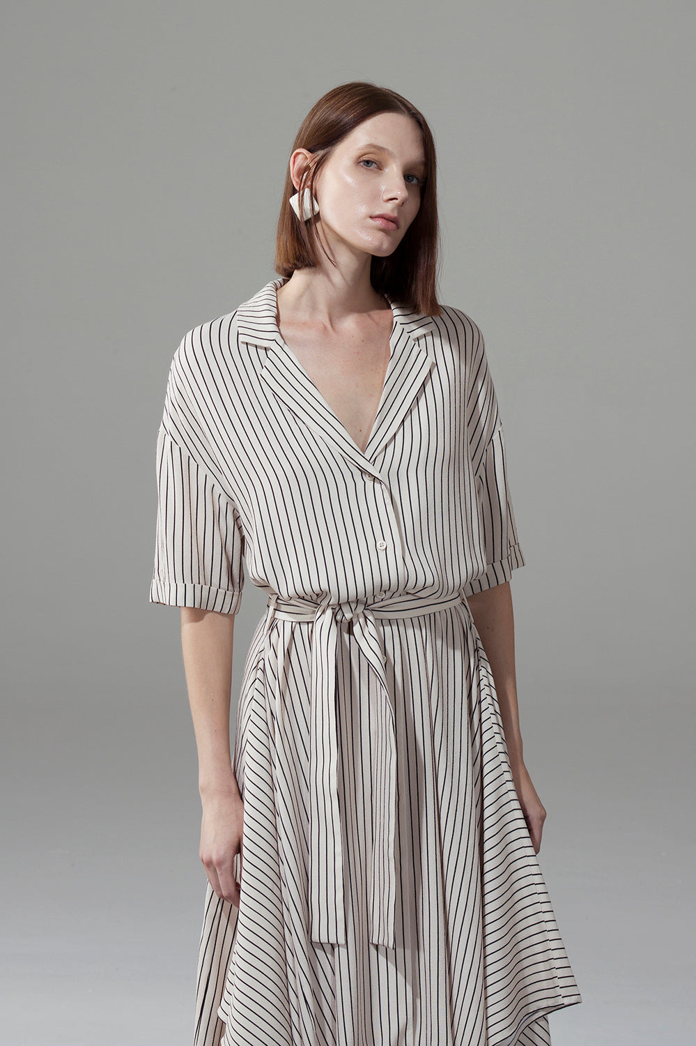 Loose Draped Hem Dress