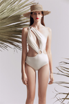 White Hollow One-Piece Swimsuit