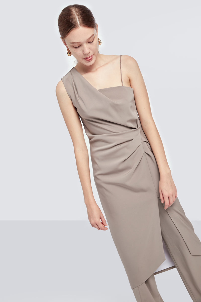 Front-Split Asymmetric Dress