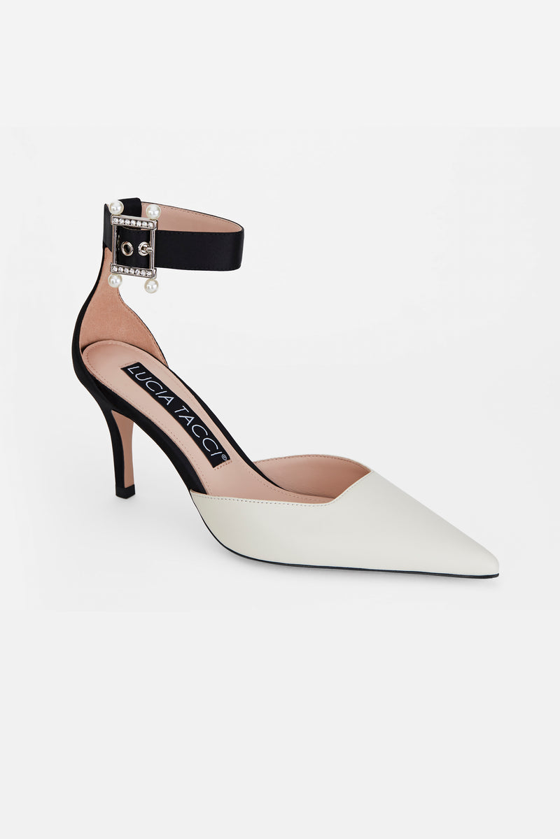 Silk Drill Buckle Stilettos