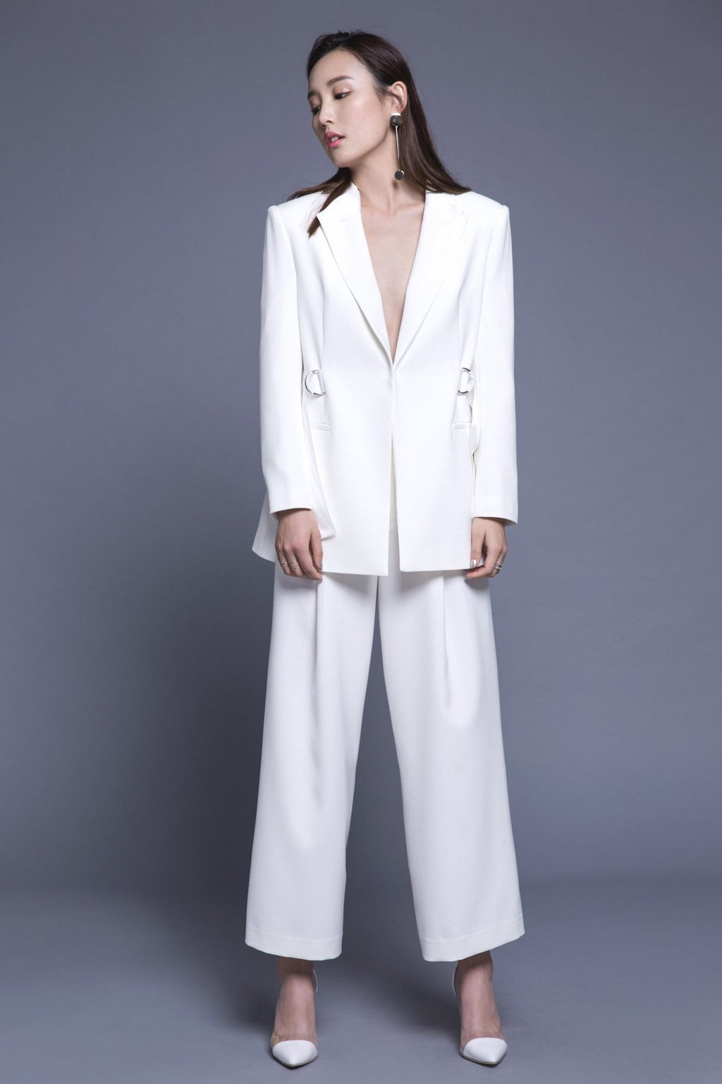Fever Wang white blazer