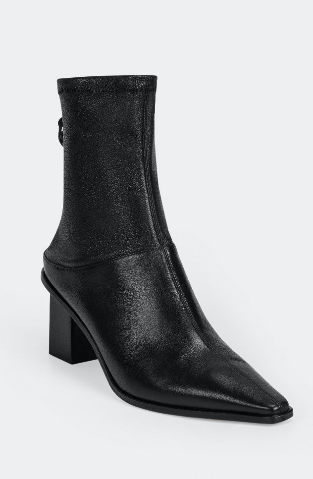Rumble Stretch Sheepskin Booties - Black