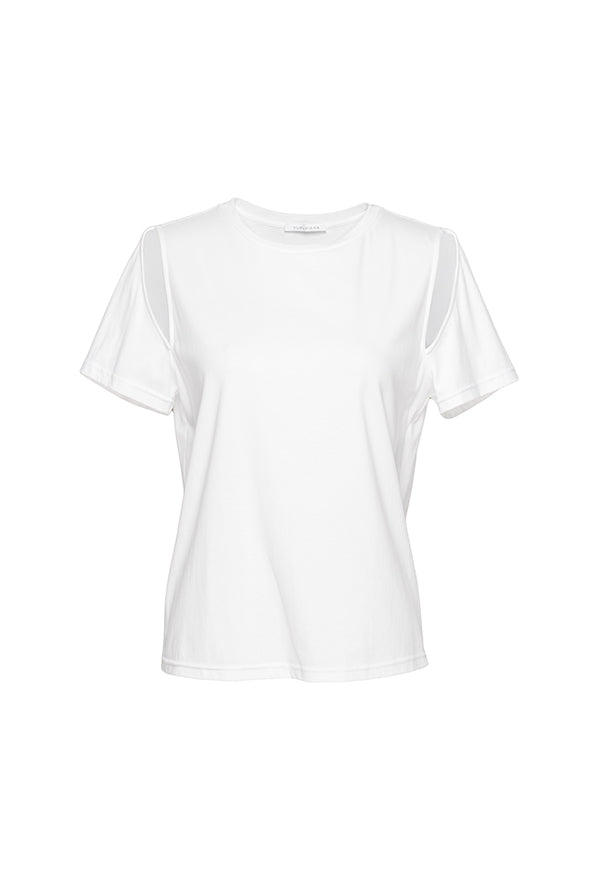 Shoulder Hollow T-Shirt