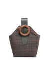 Checked Tweed Bucket Bag
