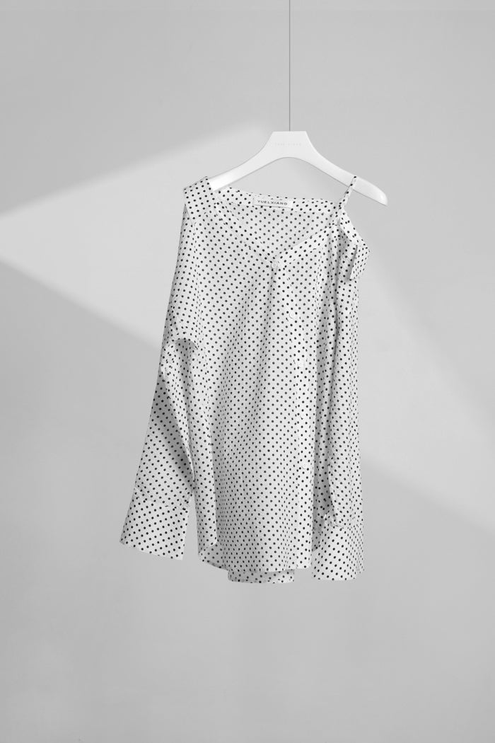 Oblique Polka Dot Shirt
