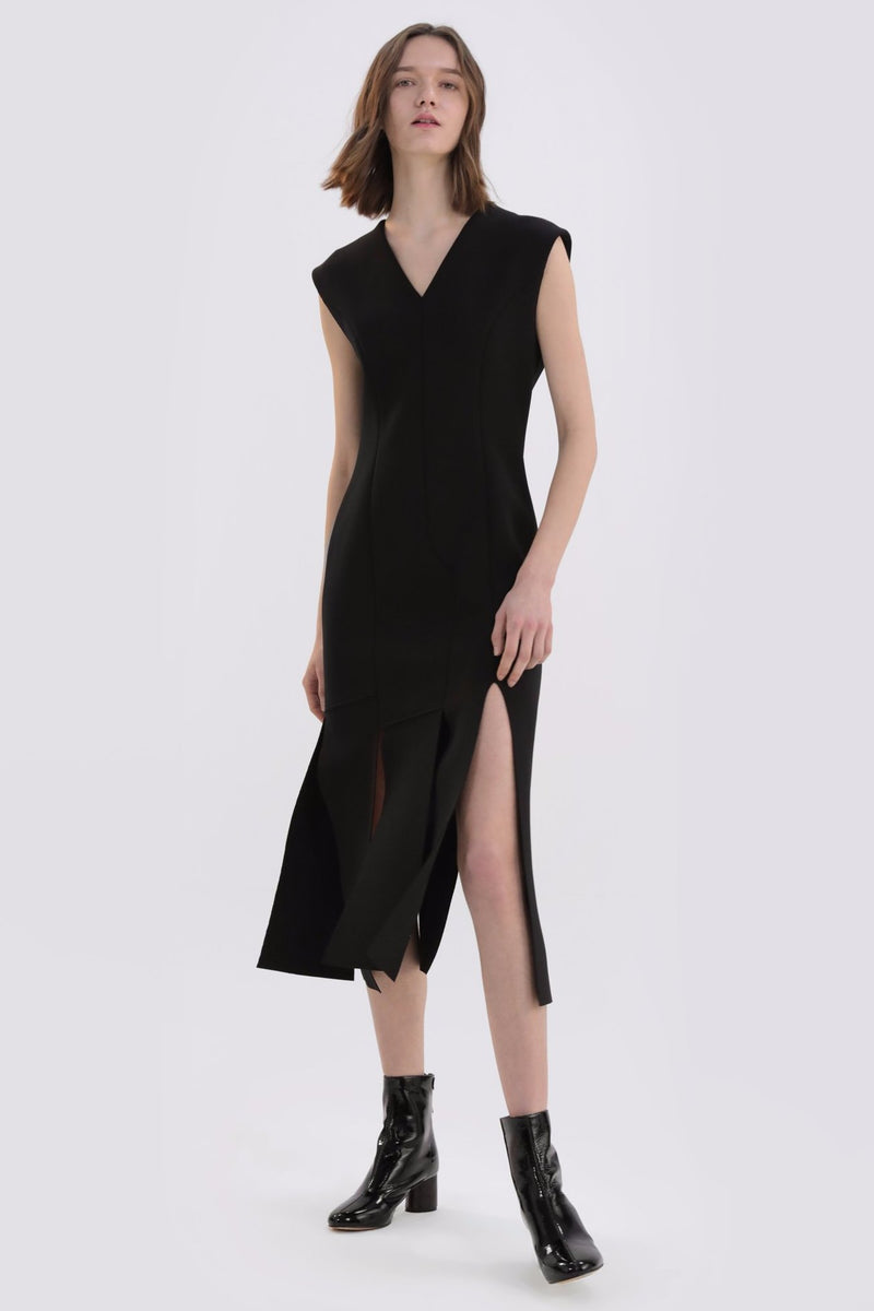 Hem Split Fishtail Dress