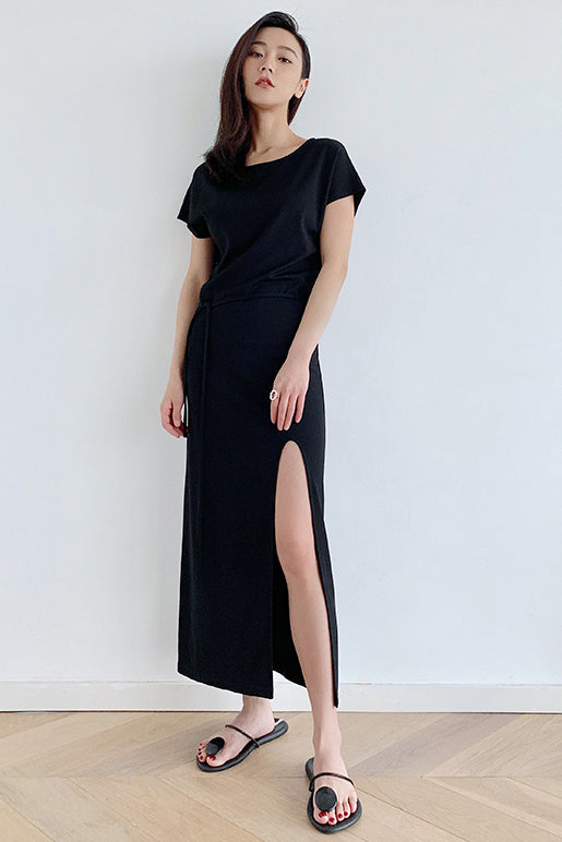 Asymmetrical Split Dress