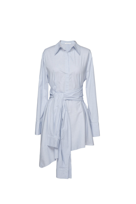 Tied- Sleeve Shirt Dress