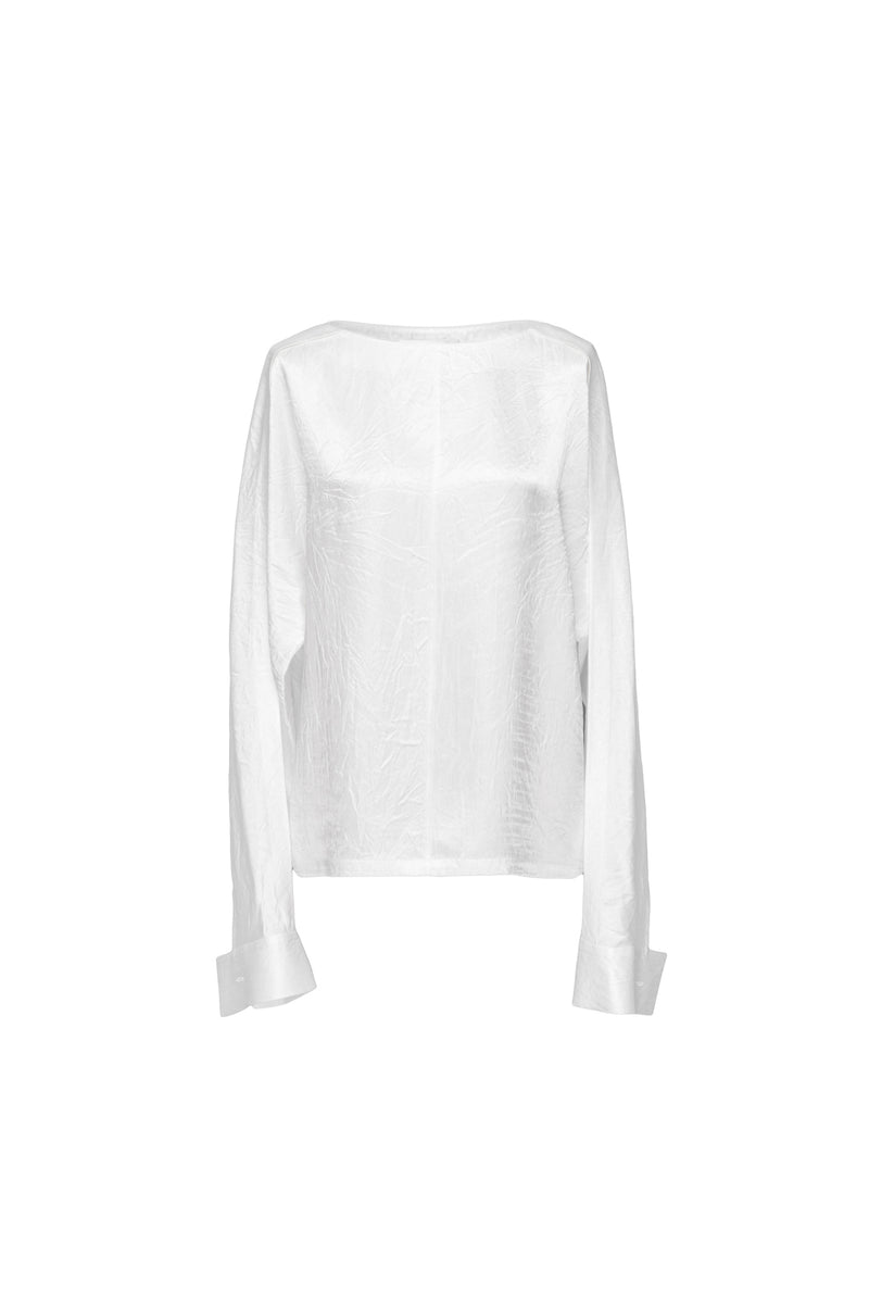 Tapered Cuff Crepe Top
