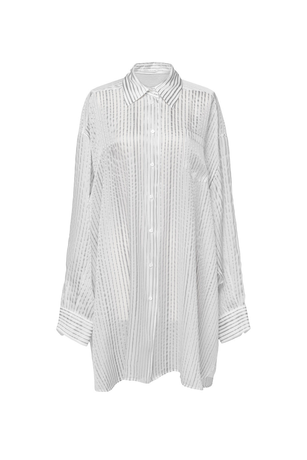 Striped Loose Shirt Dress