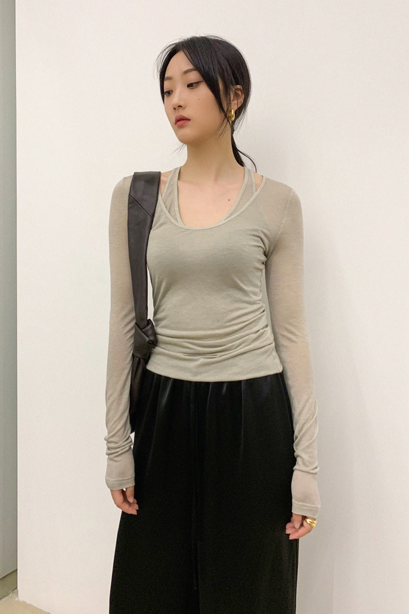 Versatile Thin Knitted Top