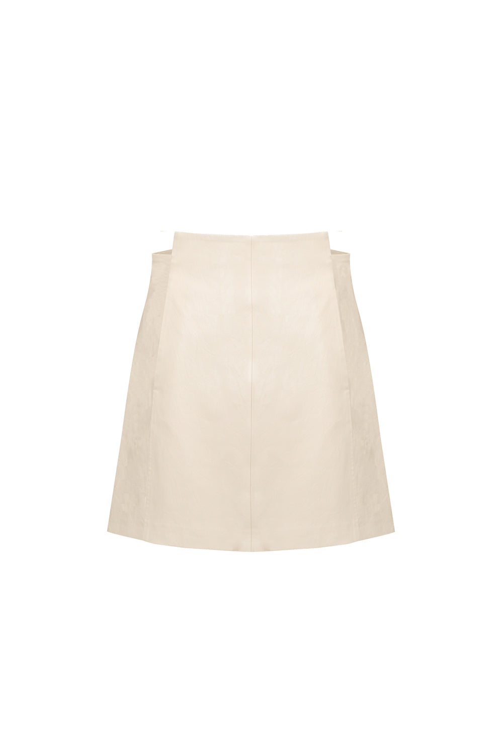 Off-Set Waist A-Hem Skirt