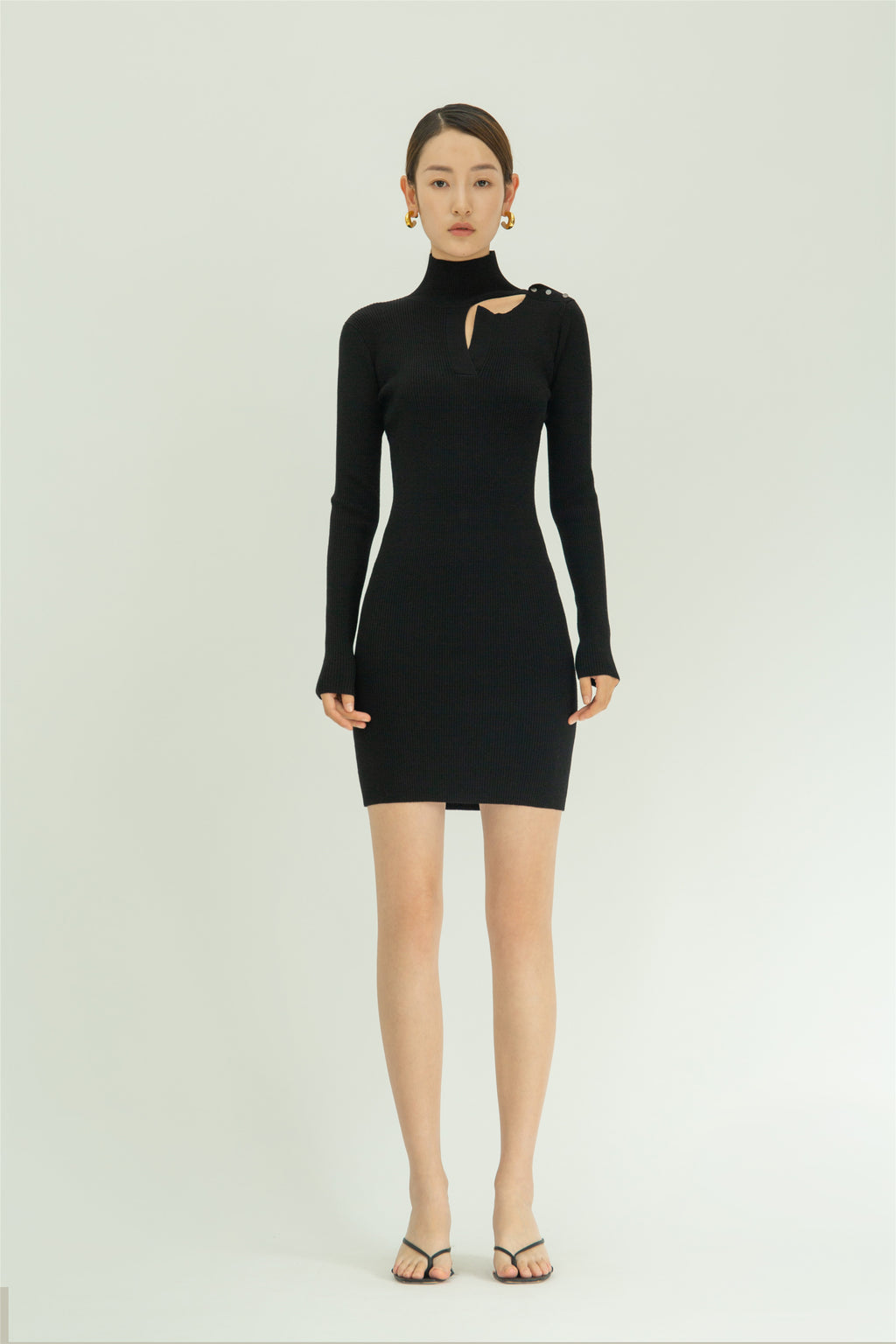 Wool-blend slim Dress