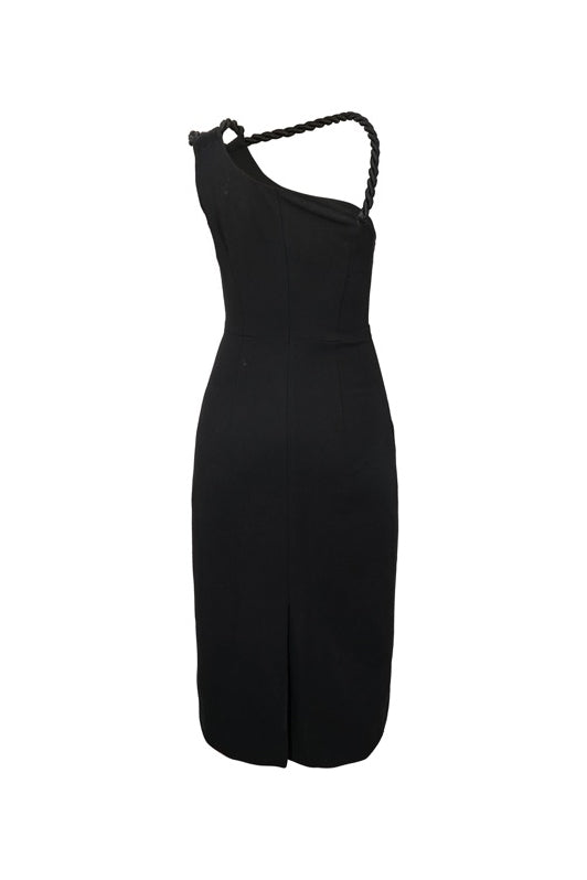 Asymmetrical Halter Dress