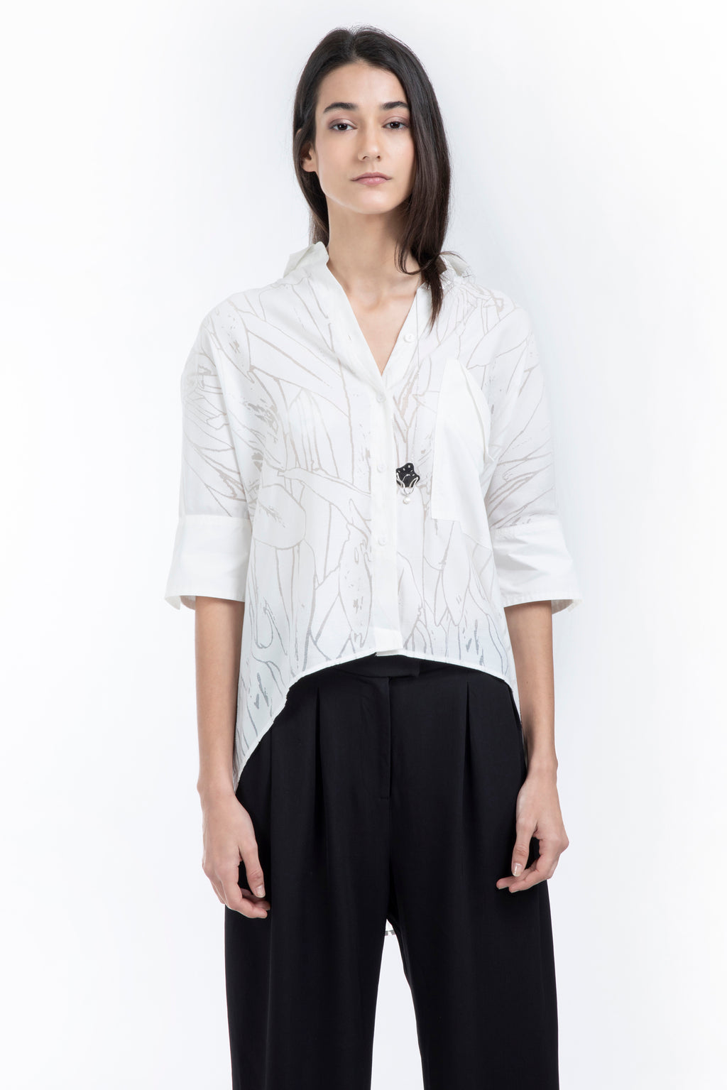 Embossed Short-Sleeved Shirt