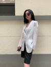 Rear Elastic Rope Blazer