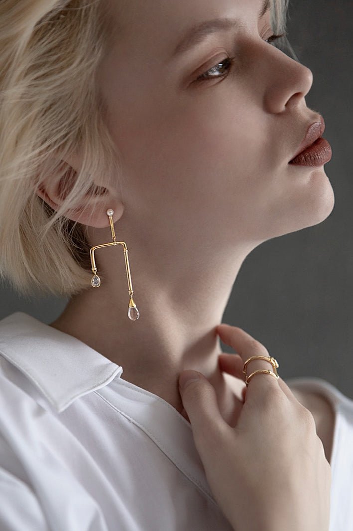 Pipe Drop Earrings